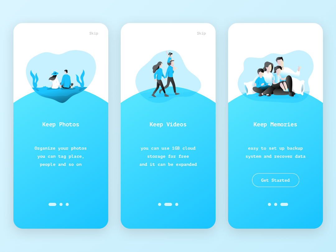 Daily UI - 023 - Onboarding sketch appdesign app userinterfacedesign userinterface uidesign design ui dailyui023 dailyui
