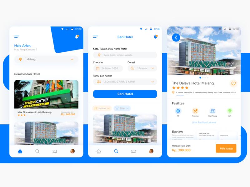 Hotel App Exploration ui design app