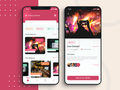 Event App Exploration ux ui design app