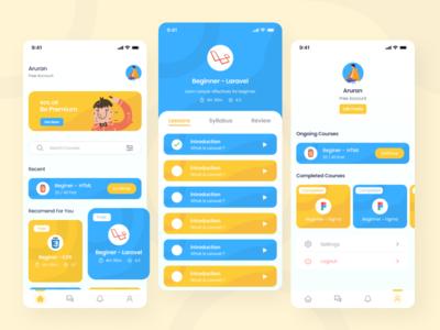 Course App Exploration ui design app