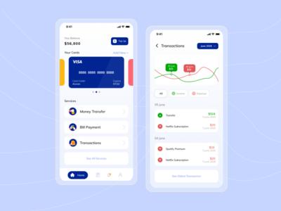 Digital Bank App Design Exploration ux ui design app