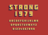 strong- typo font