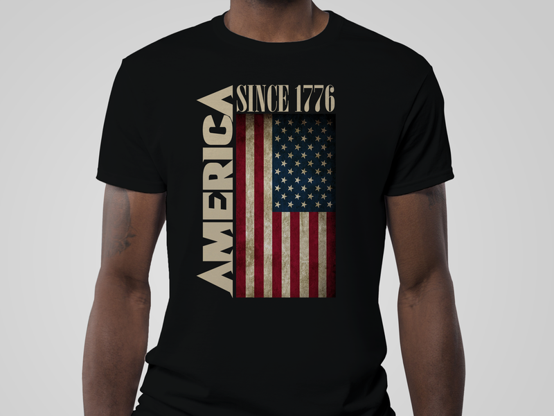 American Tshirt stylish unique t-shirt new design 4 july america independence day american flag american america