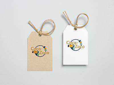 Coco-Zoco illustration label baby clothes identity design logo design