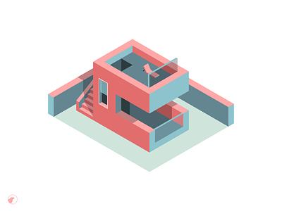 House isometric №1 digital art house isometric illustration isometric design illustration design