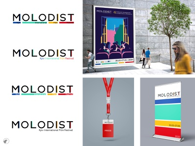 Molodist identity design logo branding film festival design