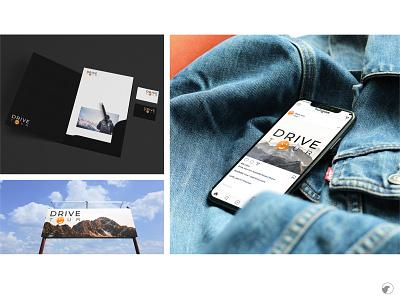Drive tour travel agency identity design logo