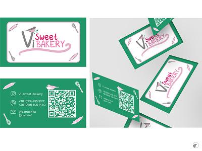 Vi Sweet Bakery bakery bakery logo business card business card design logo design