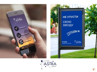 Astra park park astronomy identity design branding logo