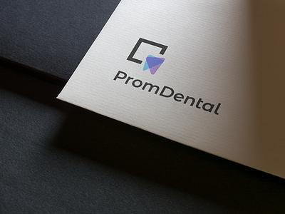PromDental logo dental dental logo design branding logo