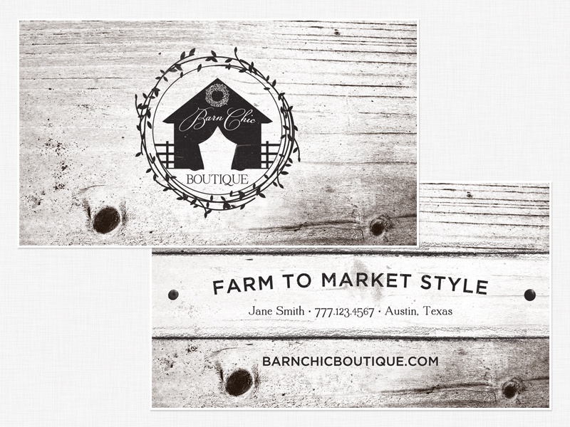 Barn Chic • Business Cards by Awaken Design Company - Dribbble