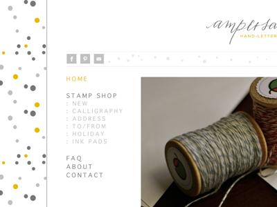 Ampersandity polka pattern web design