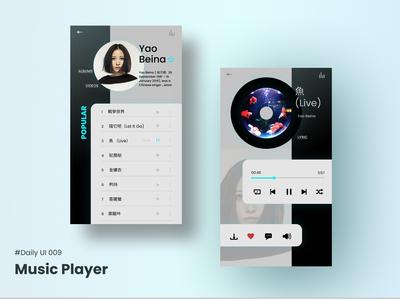 #DailyUI 009 Music Player