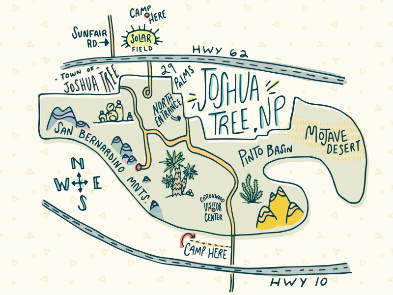 Image result for joshua tree national park map