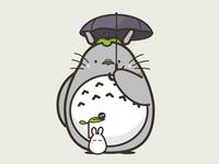 Sticker Mule Wall Graphic: Totoro