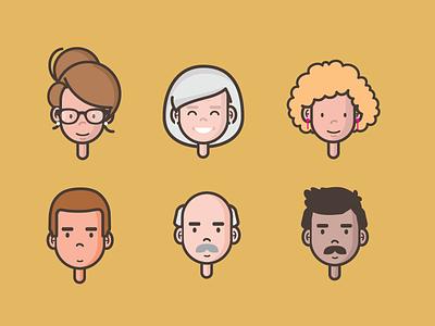 Character Avatars video animation avatars characters illustration vector michelle lana