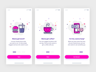 Onboarding Screens illustration mobile design login screen ios app onboarding ux mobile ui onboarding screens