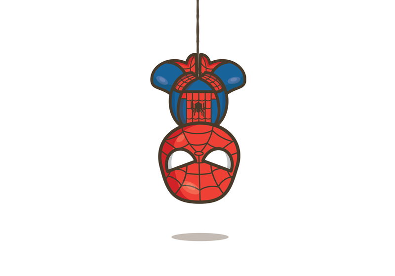 Spidey! marvel comic books peter parker spiderman vector cartoon michelle lana illustration