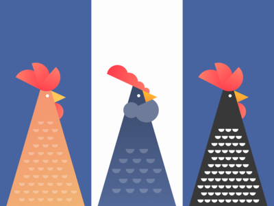 Chicken Portraits abstract geometric bird vector illustration character portrait rooster hen chicken