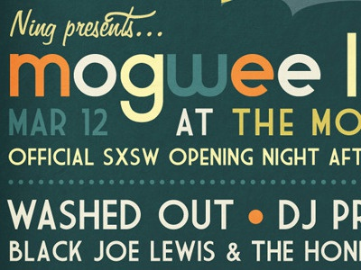 Mogwee Live Poster