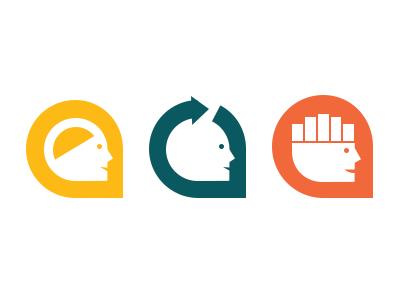 Brain icon explorations brain refresh logo icon head logomark performance