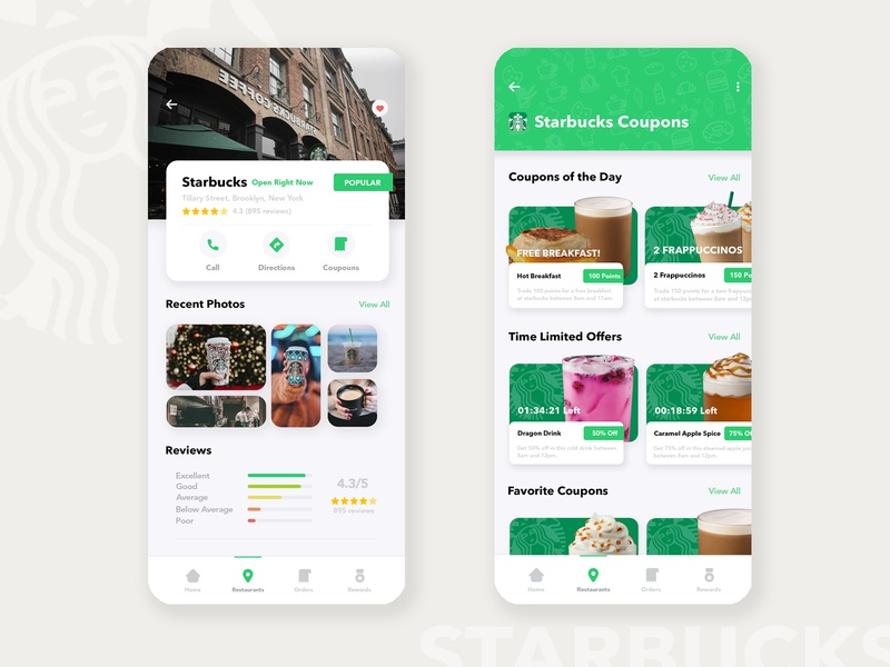 Starbucks - Loyalty App Coupons