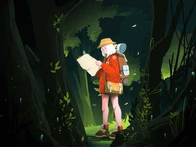 Lost and Find conceptual concept concept art digital illustration digitalart character illustrator type vector website ui animation flat illustration