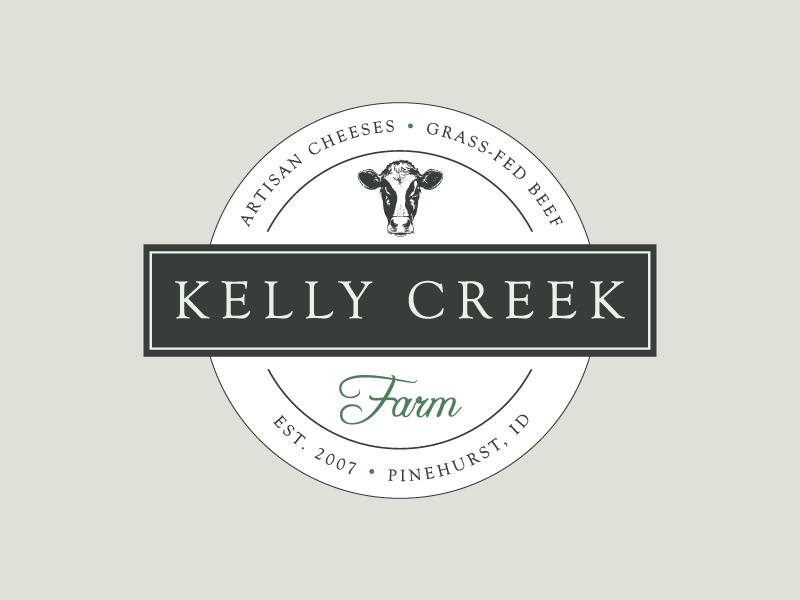Kelly Creek Farm farm creamery milk dairy logo