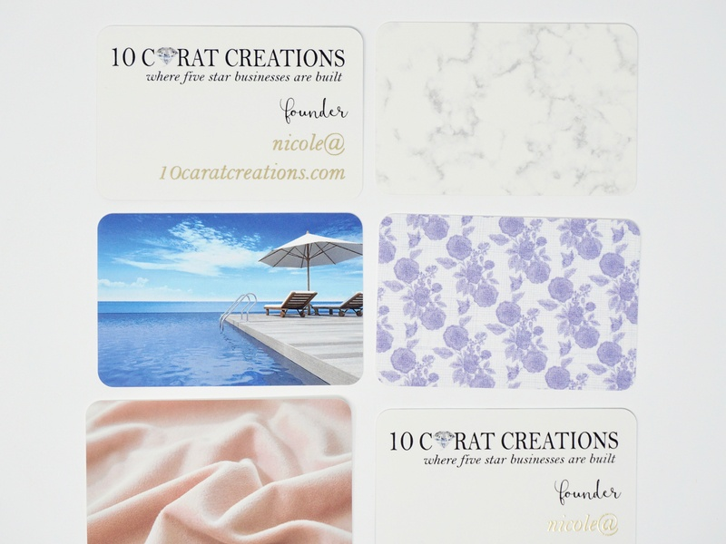 10 Carat Creations Business Cards moo cards luxury branding high end branding business card design business card