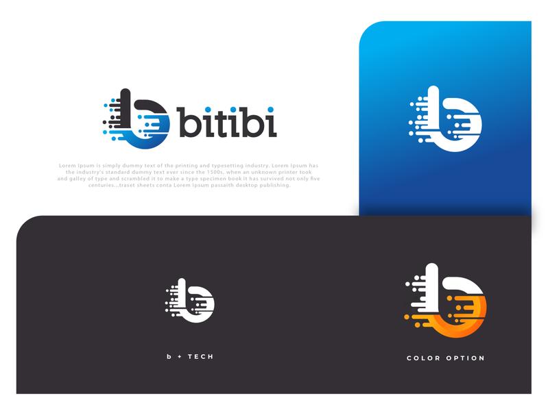 bitibi professional lettering unique abstract letter mark letter b logo b design emblem icon creative  design minimalist logo identity favicon brand minimalist logo