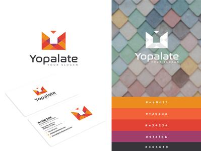 Yopalate textual typogaphy prototype gorgeous palate colorful modern logo modern unique professional icon design logos creative minimalist emblem favicon icon identity brand logo