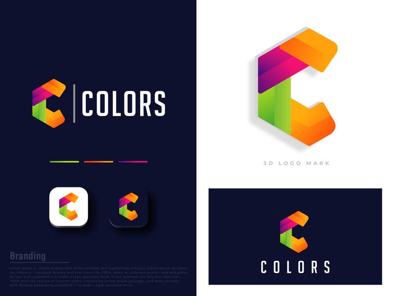 COLORS gradient simple logo typography textual text classy professional modern simple emblem minimalist logo icon minimalist creative identity favicon brand logotype logo