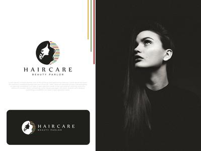 Hair Care beauty logo unique modern beauty salon parlour salon hair beauty care emblem identity logos icon design minimalist creative favicon brand logotype logo