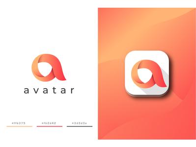avatar modern icon 3d tech typogaphy texture letter app unique professional logodesign emblem minimalist logo minimalist creative identity favicon brand logotype logo