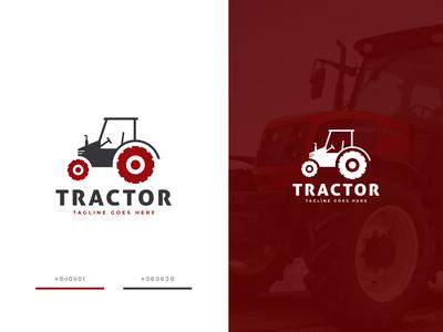 Tractor Design village wheel transportation transport car motorbike motor vehicle tractor creative design emblem minimalist logo icon minimalist creative identity favicon brand logotype logo