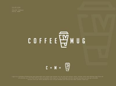 Coffee Shop Logo cafe cup bean coffee bean coffee cup coffee icon design logodesign emblem minimalist logo icon minimalist creative favicon logotype logo identity brand