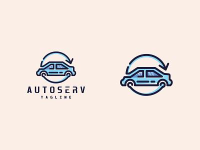 Car Logo service vehicle automotive auto car emblem minimalist logo icon minimalist creative favicon logotype logo identity brand