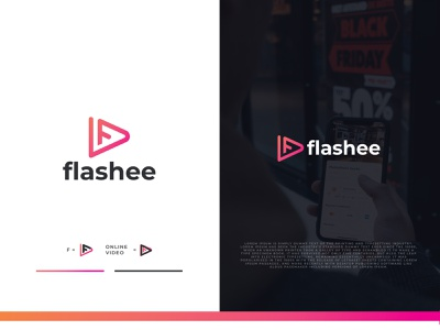 Flashee Logo Design typography simple modern minimal media audio flash light branding graphic design ui illustration design minimalist creative favicon logotype logo identity brand