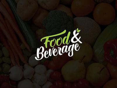 Food And Beverage. graphic design logodesign green health healthy cafe restaurant coffee fruit berverage food illustration design minimalist creative favicon logotype logo identity brand