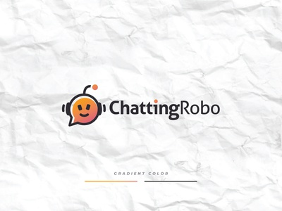 Chatting Robo text message chat chatting technology tech robot illustration design minimalist creative favicon logotype logo identity brand
