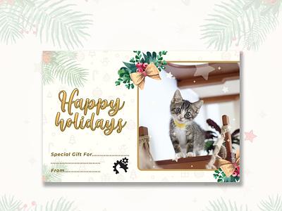 Christmas Card Design gift card gift invitation visiting holiday card christmas minimal minimalist creative favicon logotype logo identity brand