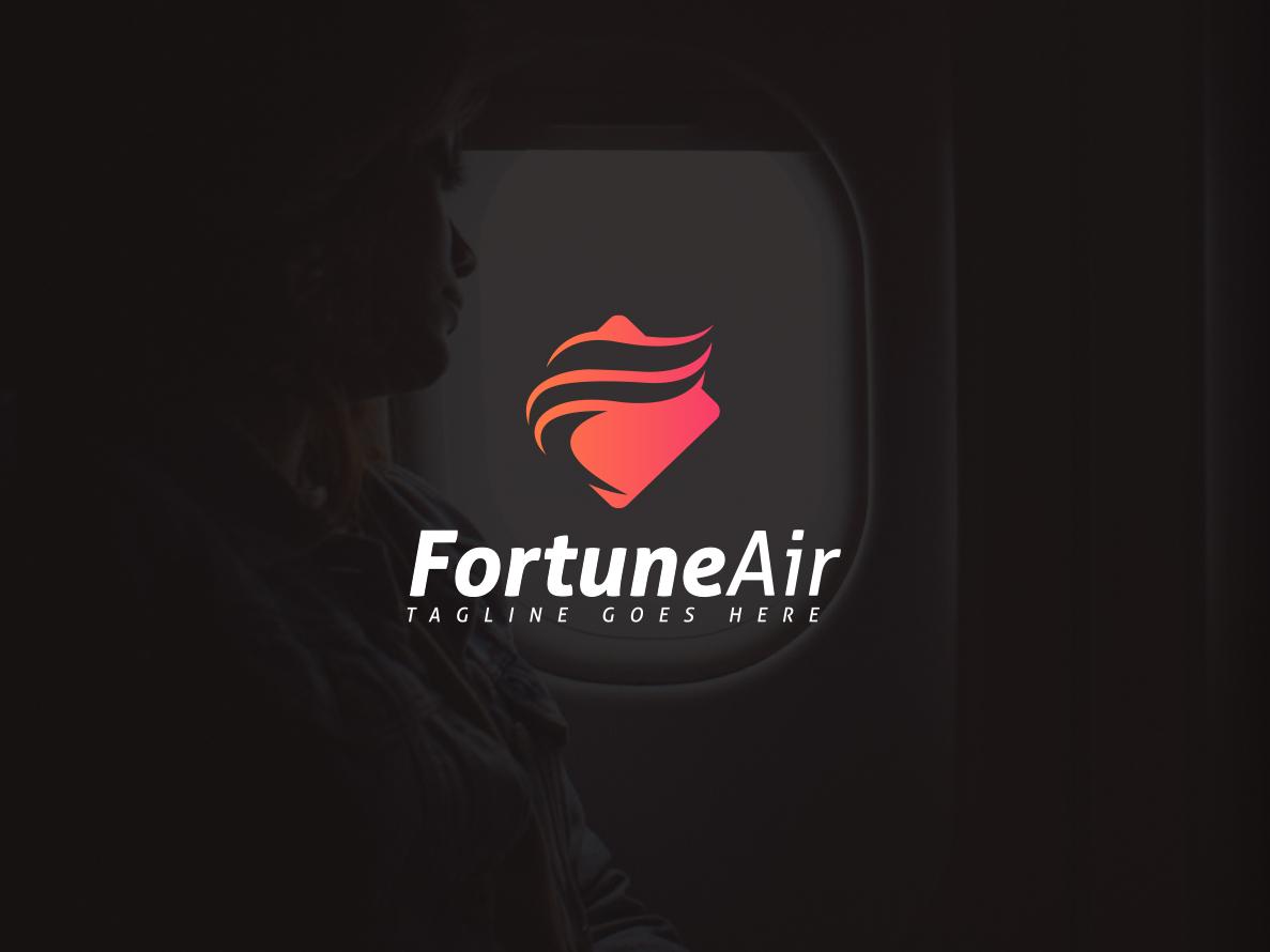 Airline Logo Design investment fortune abstract icon design icon favicon identity brand design brand identity brand logotype logo airplane airline