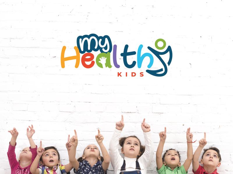Kid's Healthy Home Logo illustrator logo logotype logodesign logos creative  design creative minimalist minimalist logo icon icons icon design favicon emblem identity identitydesign brand realistic kid