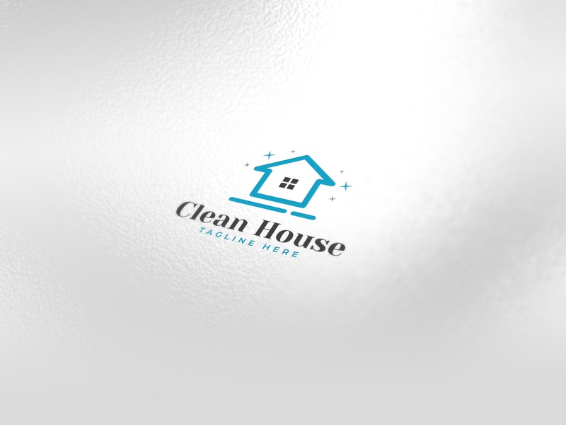 Clean House / Home Logo pure brush vacuum cleaner fresh washing wash clean building realestate house home icons minimalist logo creative icon identity favicon brand logo logotype