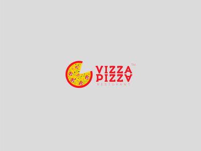 vizza pizza rusturant brand design