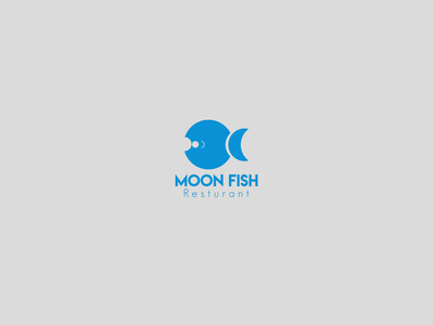moon fish resturant brand design