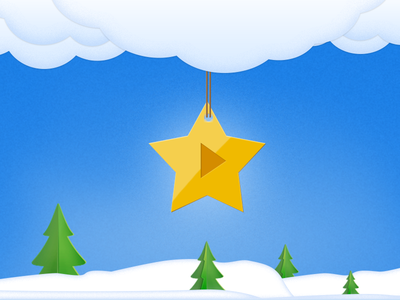 Winter snowflakes winter new year star snow clouds sky