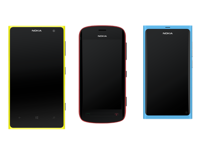 Vector illustration devices vector devices illustration lumia nokia symbian meego interface