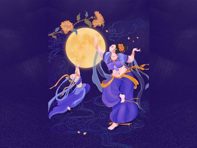 The fat fairy and the moon