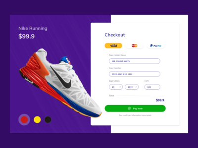Credit Card Check out - DailyUI 002